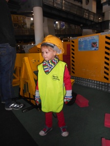 Oliver in construction gear