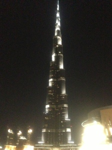 A bottom up view of the Burj Khalifa